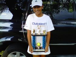 Qualifying For Regionals! (Me and My Trophy)